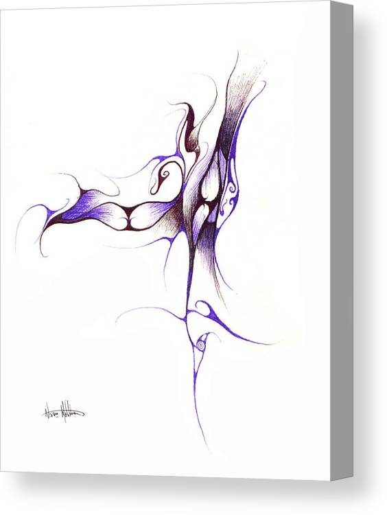 Abstract Canvas Print featuring the drawing Rhapsody Of Contortion by Nathaniel Hoffman