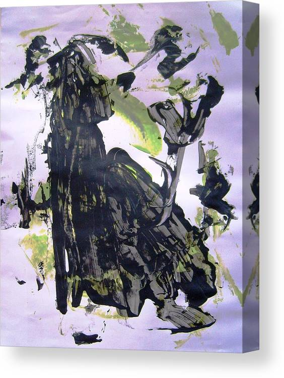 Abstract Canvas Print featuring the painting Robot Breaking Up by Bruce Combs - REACH BEYOND
