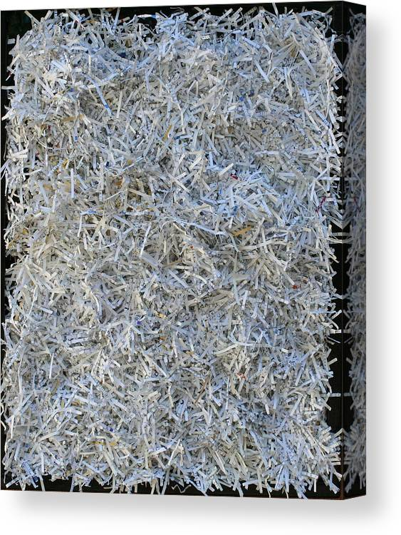 Canvas Print featuring the mixed media Shredded by Biagio Civale