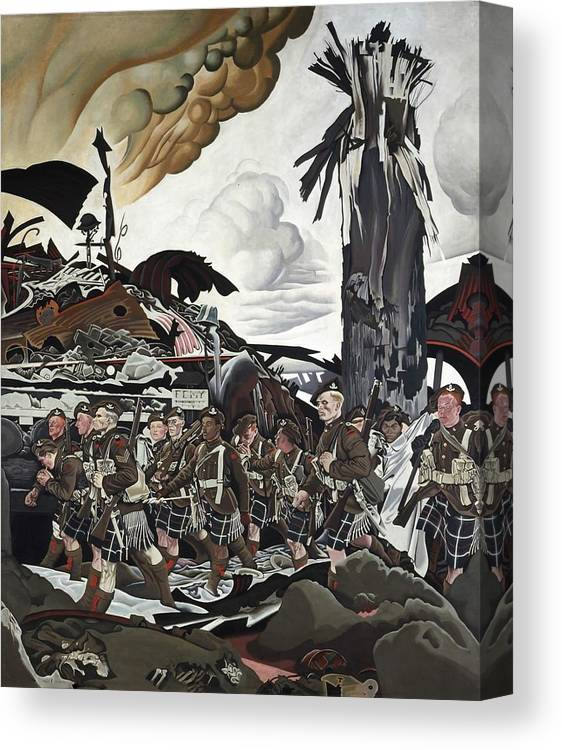 Painting Canvas Print featuring the painting The Conquerors by Mountain Dreams