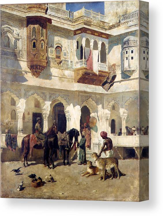 Edwin Lord Weeks Canvas Print featuring the painting The Rajah Starting On A Hunt by Edwin Lord Weeks