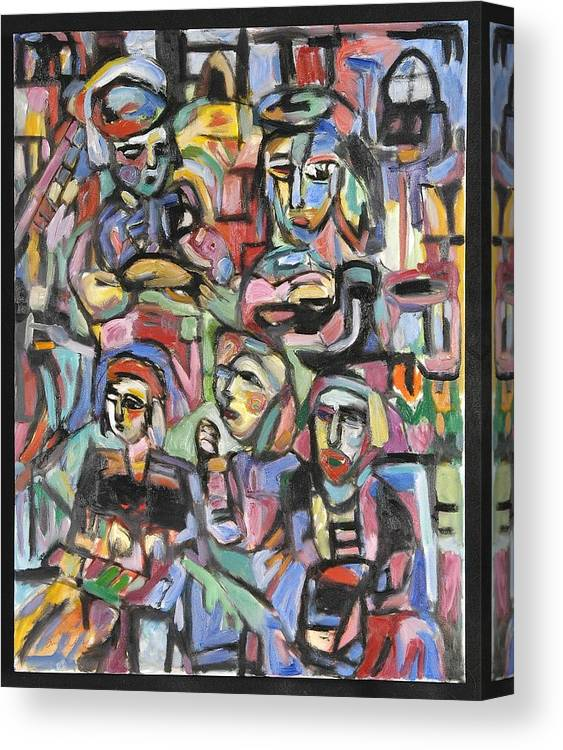 Acts 2 Canvas Print featuring the painting Upper Room by Mykul Anjelo