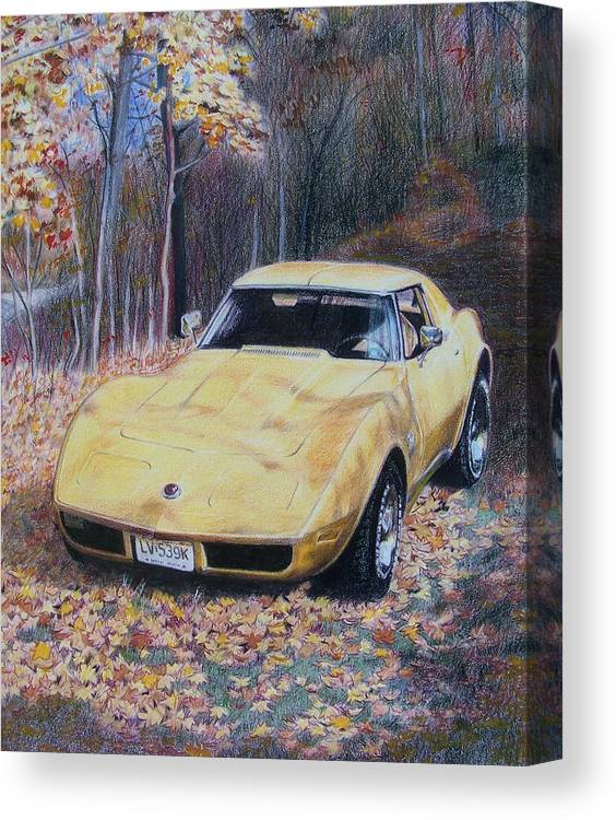 Car Canvas Print featuring the mixed media Vrooom by Constance Drescher