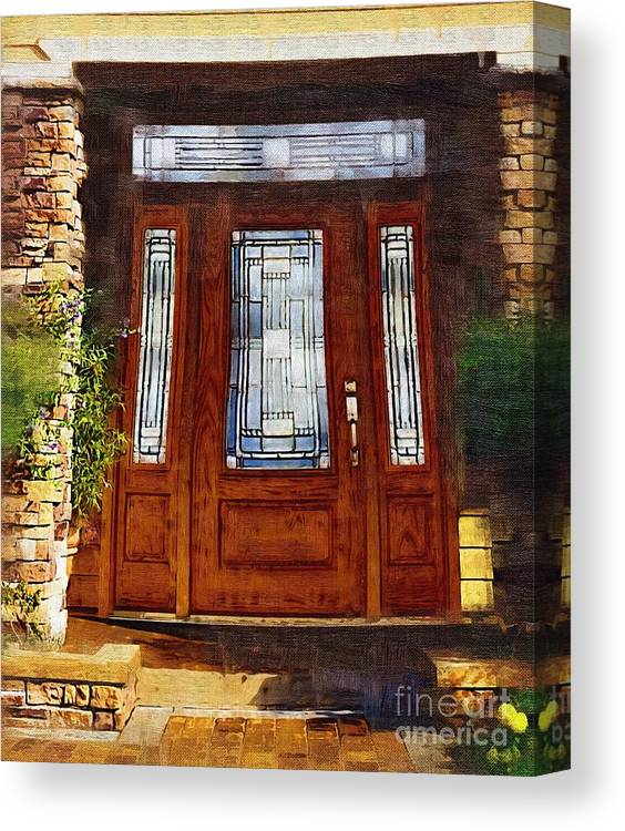Doors Canvas Print featuring the painting Welcome by Deborah Selib-Haig DMacq