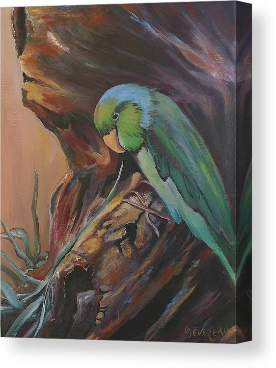 Bird Canvas Print featuring the painting Wigi by Cher Devereaux