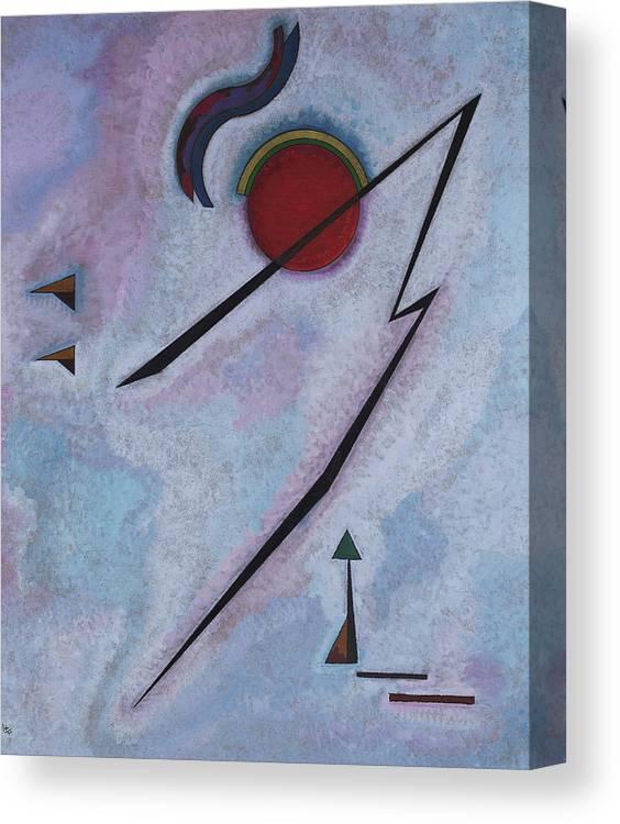 Kandinsky Angular Line Canvas Print featuring the painting Angular Line - Linea Angolare, 1930 by Wassily Kandinsky