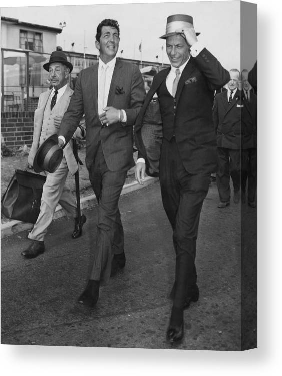 Singer Canvas Print featuring the photograph Martin And Sinatra by J. Wilds