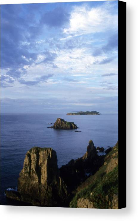 Landscape; Nature; Summer; Land; Reef; Rocks; Evening; Overcast; Cloudiness; World Herritage Sites; Reserve; National Park Canvas Print featuring the photograph Russian Far East by Anonymous