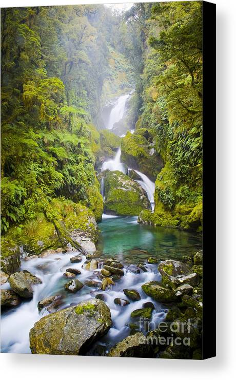 Camping Canvas Print featuring the photograph Amazing Waterfall by Tim Hester
