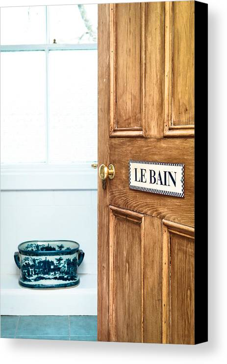 Apartment Canvas Print featuring the photograph Bathroom Door by Tom Gowanlock