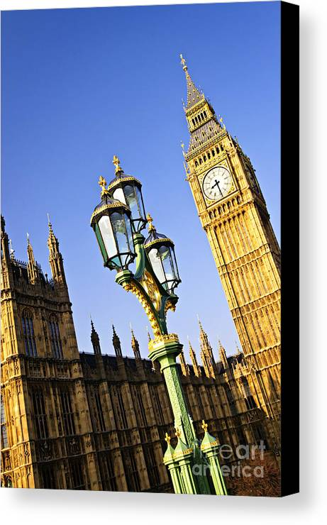 Big Canvas Print featuring the photograph Big Ben And Palace Of Westminster by Elena Elisseeva