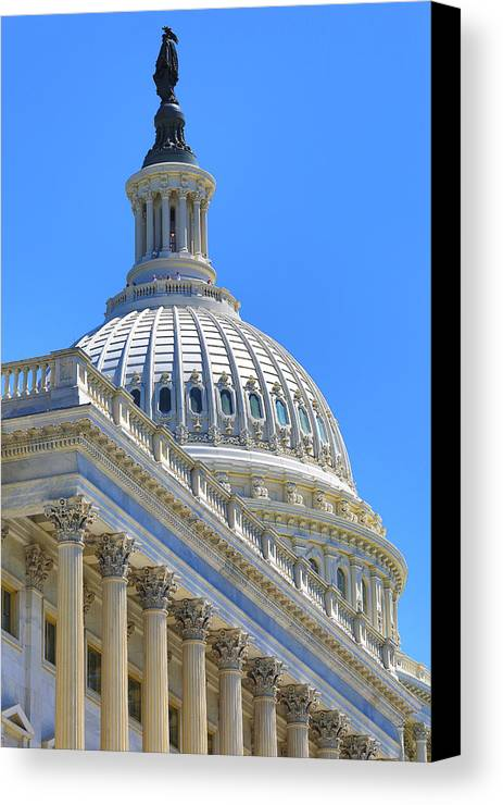 Us Capitol Canvas Print featuring the photograph Capitol Dome by Dan Neri