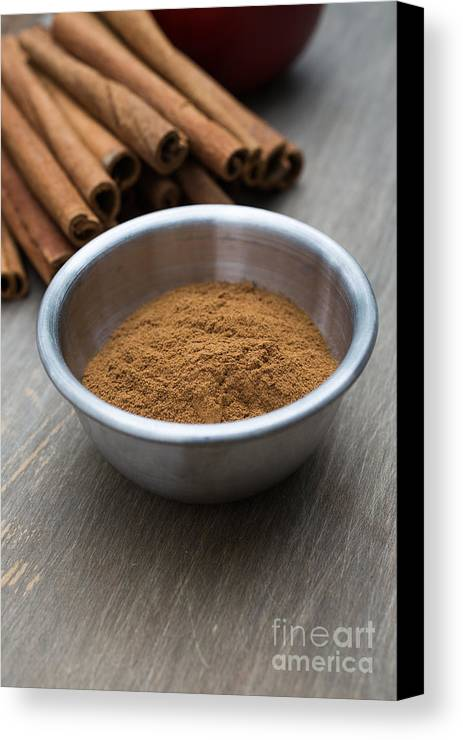 Food Canvas Print featuring the photograph Cinnamon Spice by Edward Fielding