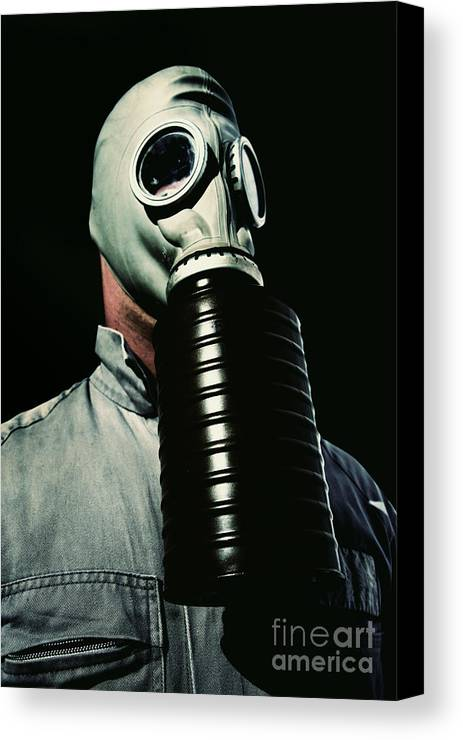War Canvas Print featuring the photograph Gas And Darkness by Jorgo Photography - Wall Art Gallery