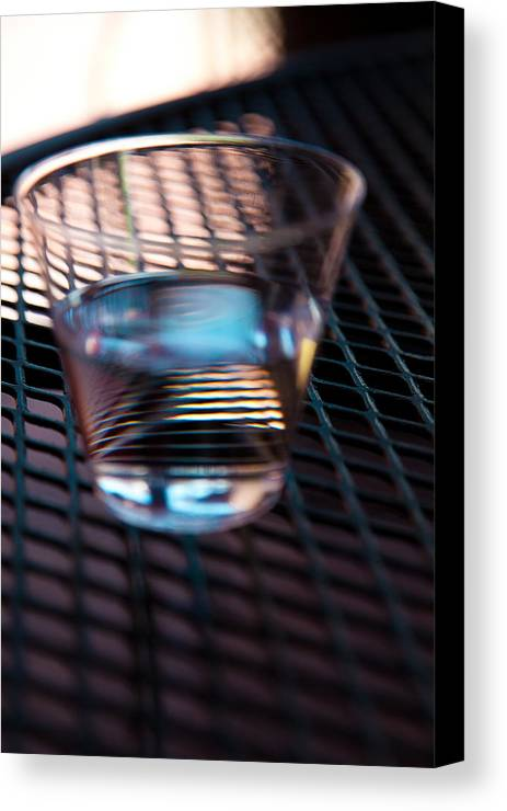 Glass Canvas Print featuring the photograph Glass Half Full by David Patterson