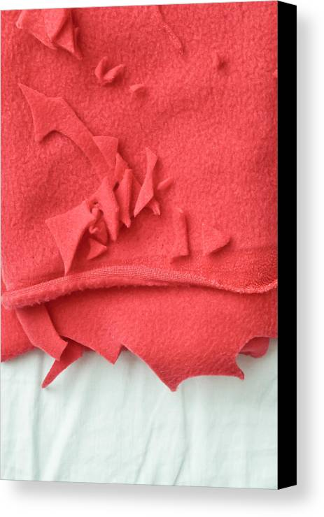 Abstract Canvas Print featuring the photograph Red Fleece by Tom Gowanlock