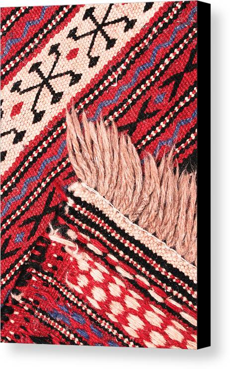 Abstract Canvas Print featuring the photograph Turkish Rug by Tom Gowanlock
