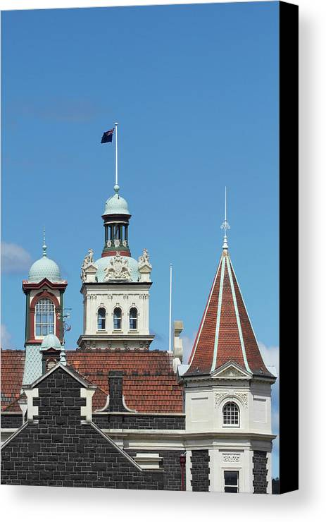 Architecture Canvas Print featuring the photograph Turrets, Spires & Clock Tower, Historic by David Wall