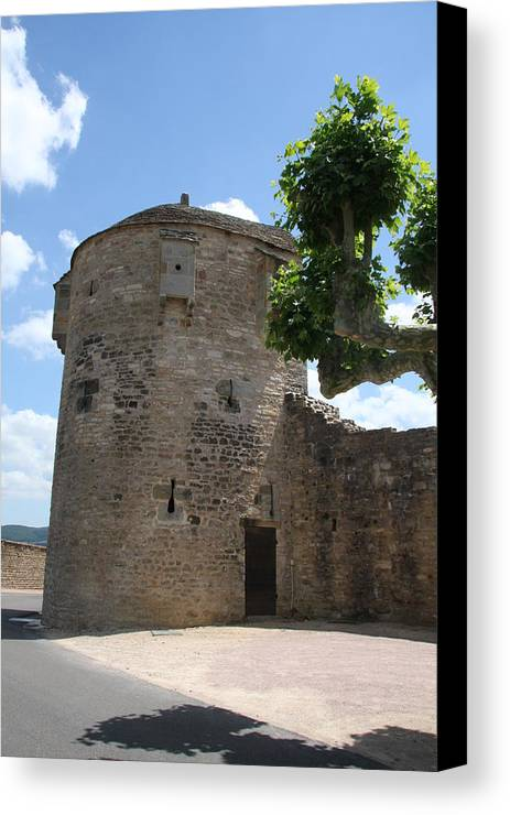 Watch Tower Canvas Print featuring the photograph Watch Tower In Cluny by Christiane Schulze Art And Photography
