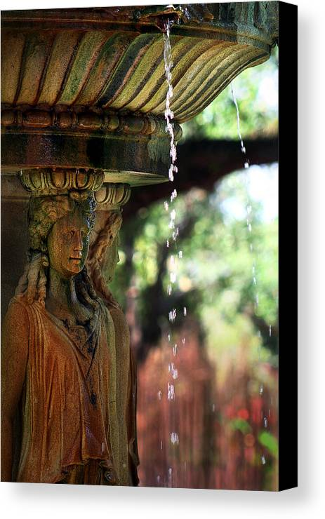 Water Canvas Print featuring the photograph Water Fountain by Rhonda Burger