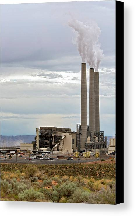 America Canvas Print featuring the photograph Coal-fired Power Station by Jim West