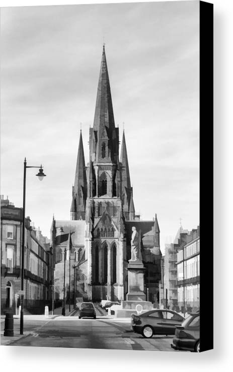 Architecture Canvas Print featuring the digital art View Of Episcopal Cathedral In Edinburgh by Ashish Agarwal