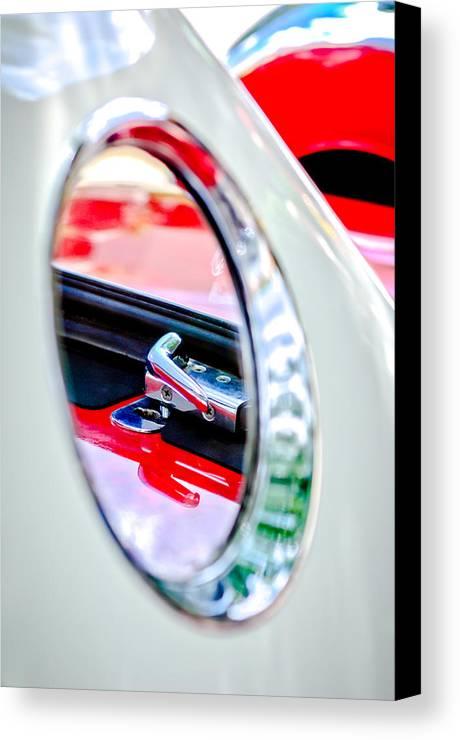 1956 Ford Thunderbird Latch Canvas Print featuring the photograph 1956 Ford Thunderbird Latch -417c by Jill Reger