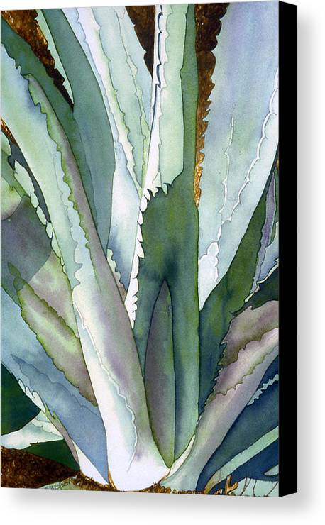 Botanical Canvas Print featuring the painting Agave 1 by Eunice Olson