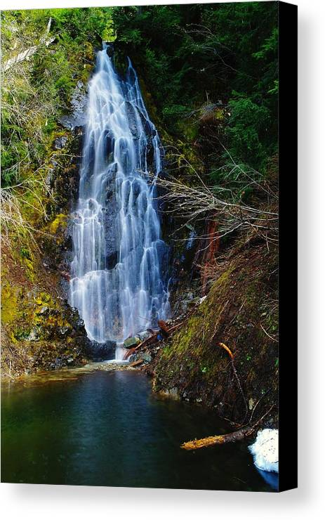 Water Canvas Print featuring the photograph An Angel In The Falls by Jeff Swan