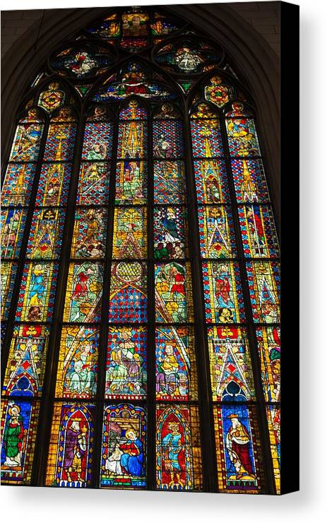 Augsburg Canvas Print featuring the photograph Cathedral Of Augsburg by Frank Gaertner