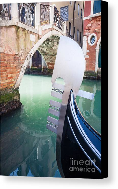 Venice Canvas Print featuring the photograph Gondola In Venice by Matteo Colombo