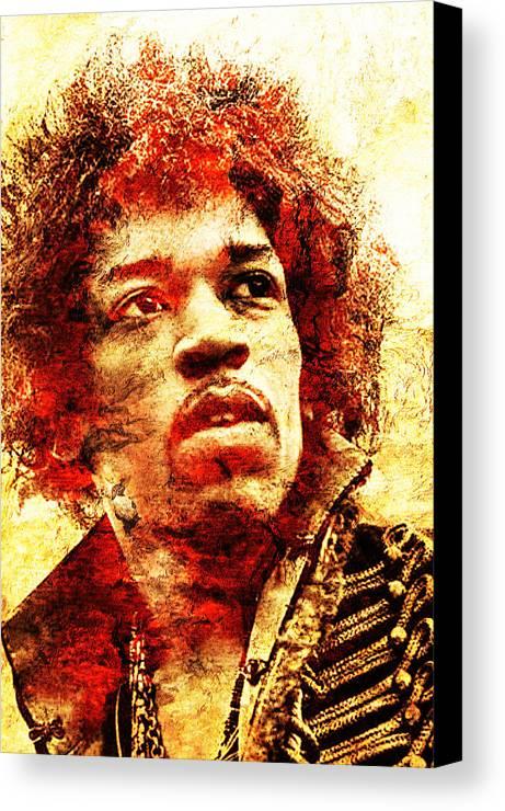 Jimi Hendrix Canvas Print featuring the photograph Jimi Hendrix by J - O  N  E