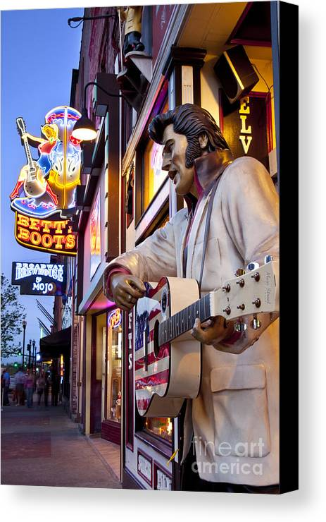 Nashville Canvas Print featuring the photograph Music City Usa by Brian Jannsen