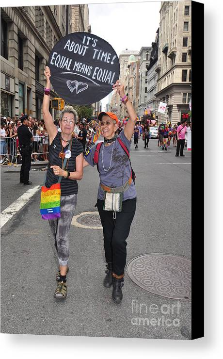 Costumes Canvas Print featuring the photograph Nyc Gay Pride 2011 by Mark Gilman