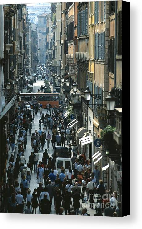 Bus Canvas Print featuring the photograph Roma by Chris Selby