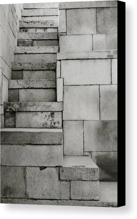 Minimalism Canvas Print featuring the photograph The Stairway by Shaun Higson