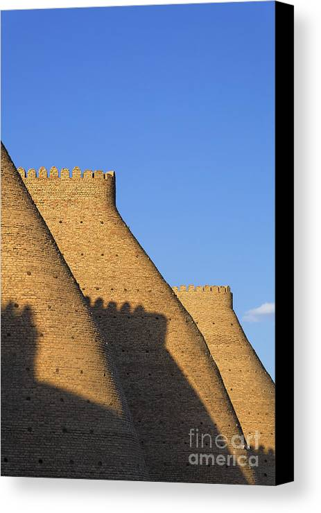 Bukhara Canvas Print featuring the photograph The Walls Of The Ark At Bukhara In Uzbekistan by Robert Preston