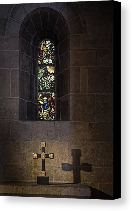 Stained Glass Canvas Print featuring the photograph Window by Inge Riis McDonald