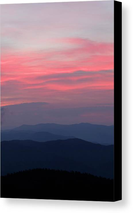 Blue Canvas Print featuring the photograph Usa, Tennessee, Great Smoky Mountains by Jaynes Gallery