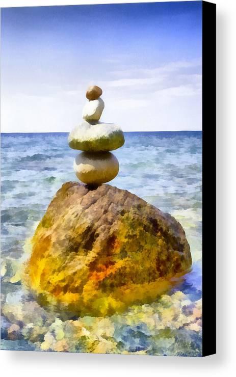Balance Canvas Print featuring the digital art Balanced by Roy Pedersen