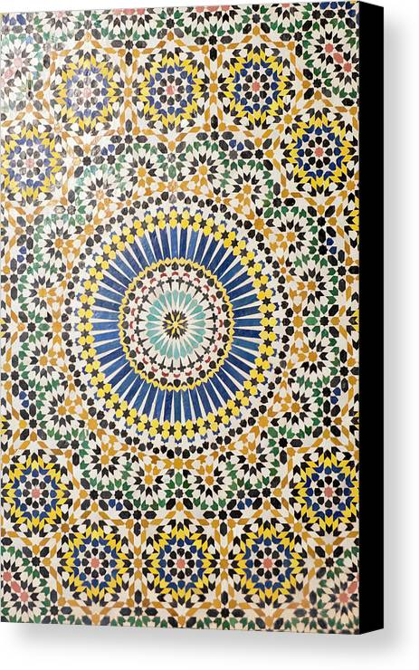Abstract Canvas Print featuring the photograph Morocco, Agdz, The Kasbah Of Telouet by Emily Wilson