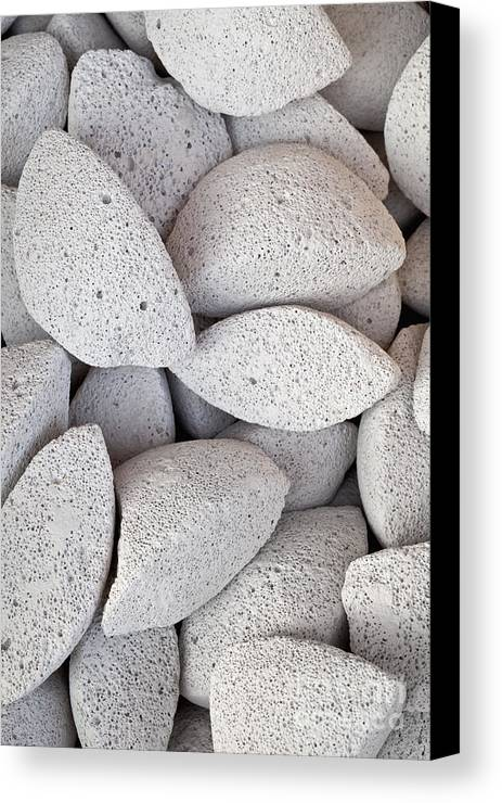 Close Up Canvas Print featuring the photograph Pumice Lava Rocks by Roberto Morgenthaler