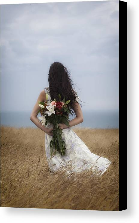 Girl Canvas Print featuring the photograph Bouquet Of Flowers by Joana Kruse