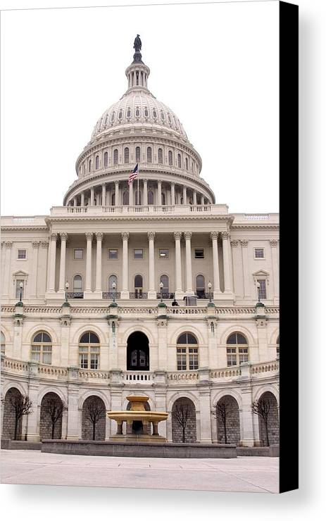 Capitol Hill Canvas Print featuring the photograph Capitol Hill by Admir Gorcevic