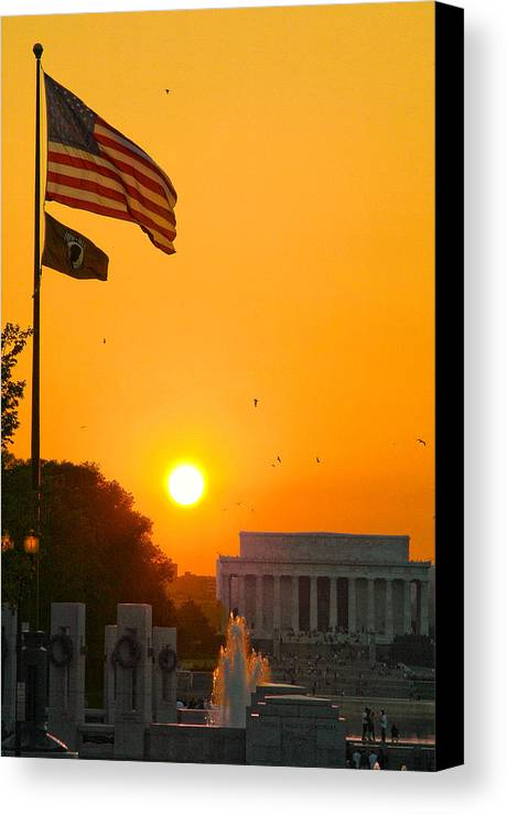 Landscape Canvas Print featuring the photograph Freedom by Mitch Cat