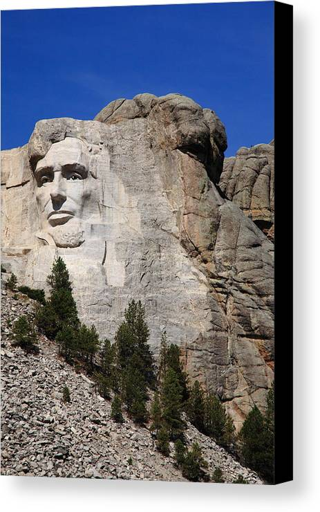 Abe Canvas Print featuring the photograph Mount Rushmore by Frank Romeo