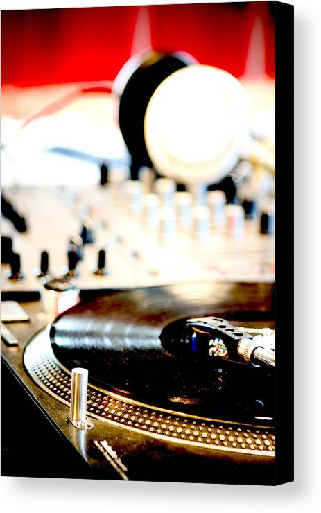 Gramophone Canvas Print featuring the photograph Dj Table by Admir Gorcevic