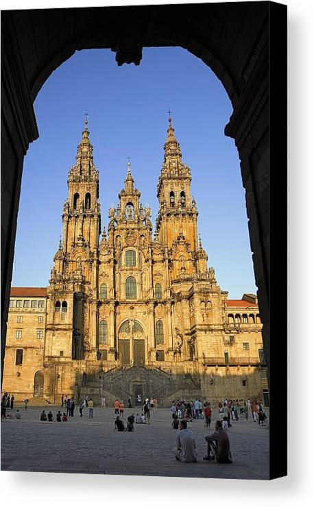Colour Canvas Print featuring the photograph Spain. Santiago De Compostela by Everett