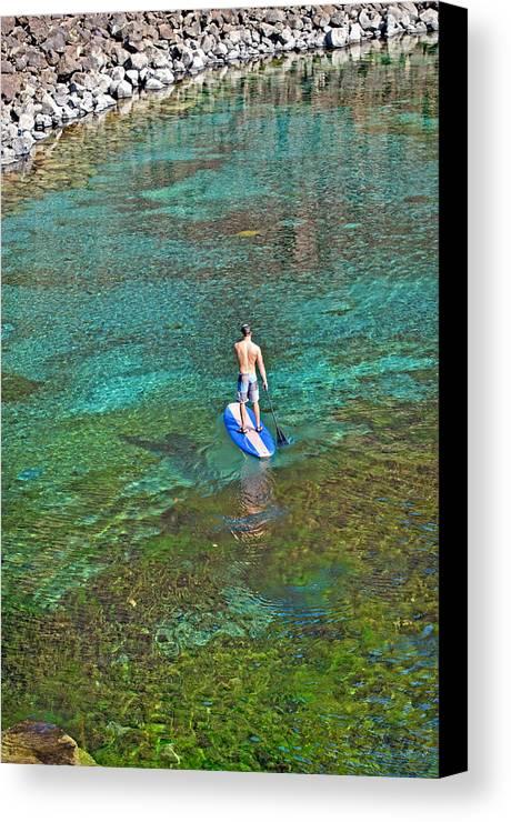 Elijah Weber Canvas Print featuring the photograph Standup Paddle Board by Elijah Weber