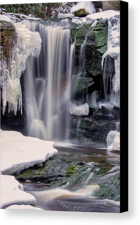 Blackwater Falls State Park Canvas Print featuring the photograph Usa, West Virginia, Blackwater Falls by Jaynes Gallery